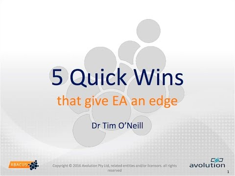 Webinar Quick Wins That Give Enterprise Architects An Edge