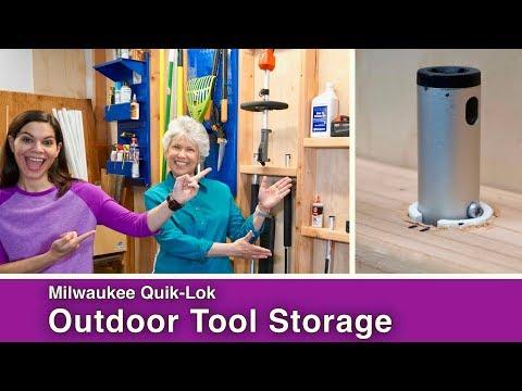 Milwaukee Quik-Lok Outdoor Tool Storage // 2x4 Stud Wall