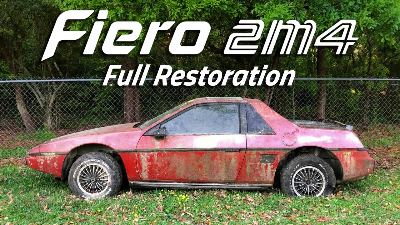 3 Year Timelapse - Fiero Restoration   Abandoned for 20 Years