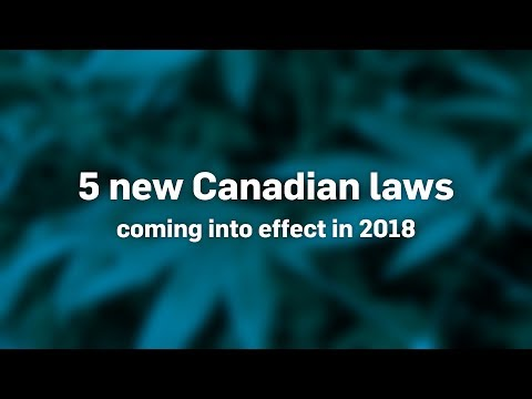 Five new Canadian laws coming in 2018