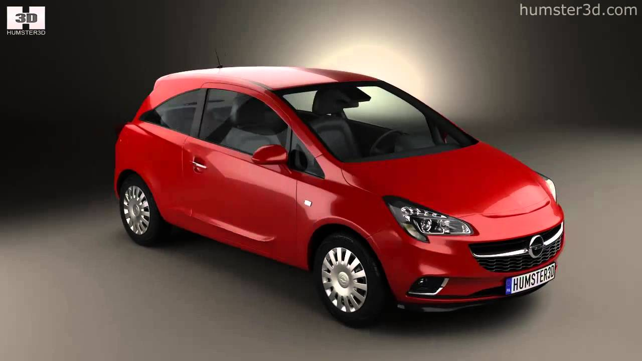 opel corsa e 3 door 2014 by 3d model store youtube. Black Bedroom Furniture Sets. Home Design Ideas