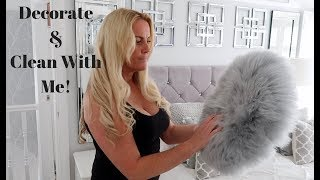 DECORATE MY ROOM WITH ME   SPEED CLEAN MY BEDROOM WITH ME 2018