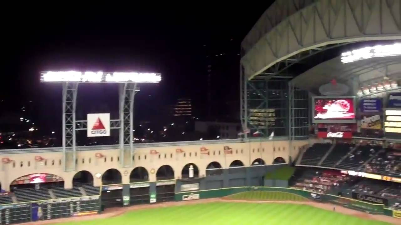 Minute Maid Park Roof Opening Youtube