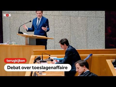 LIVE: Debat toeslagenaffaire in Tweede Kamer