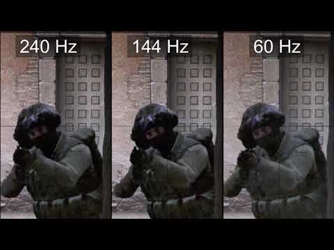 Slow motion] 240Hz vs 144Hz vs 60Hz - CS:GO : GlobalOffensive