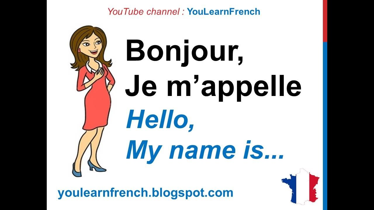 French Lesson 15 INTRODUCE YOURSELF in French Basic conversation Se ...
