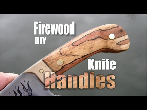How to make knife handles or scales from firewood