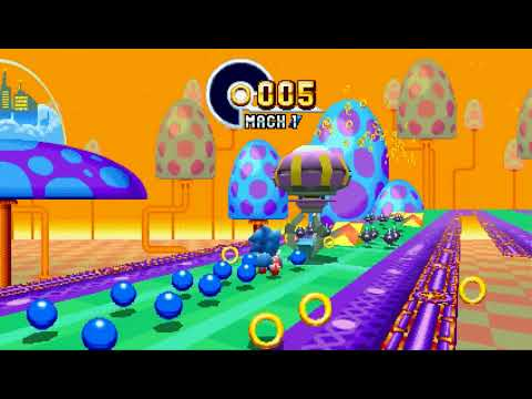 Sonic Mania - All Emeralds Sonic + Tails Speedrun in 56:16