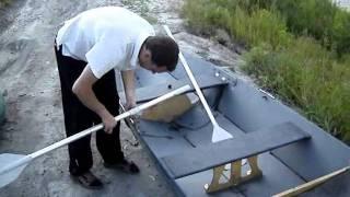 Складнаяя лодка из фанеры.(На этом видео я показываю как можно легко собрать каркасную лодку, не уступающая надувным сородичам., 2011-07-07T14:02:58.000Z)