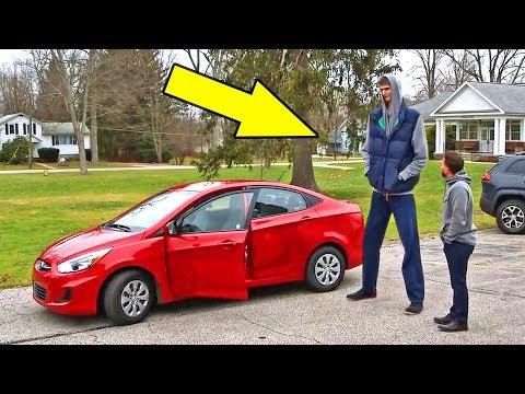 Как баскетболист ростом 231 см ездит в компактном автомобиле