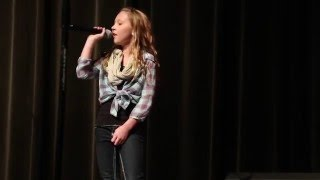 "Abby - 10 year old winner of Clarkston Idol singing ""Rolling in the Deep"" by Adele"