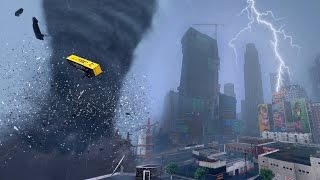 HUGE TORNADO RIPS THROUGH LOS SANTOS - END OF LOS SANTOS GTA 5 MOD