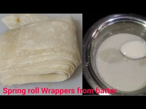 Spring Roll Wrappers From Batter | Spring Roll Sheet At Home