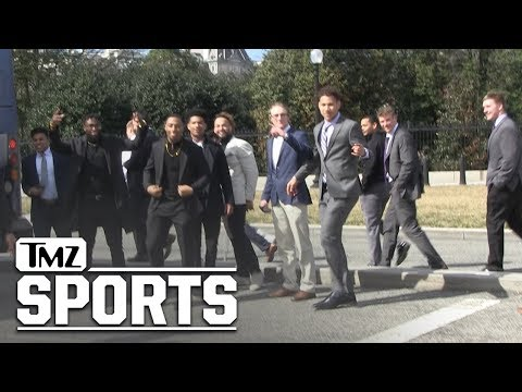NDSU Football Team Leaving The White House | TMZ Sports