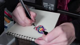 Tingly ASMR Drawing Video With Whispering For Your Relaxation