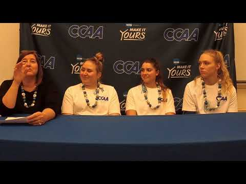 2017 CCAA Volleyball Championship - Cal State San Bernardino post-game