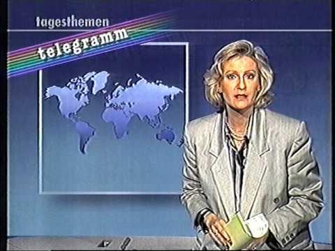 ARD Tagesthemen Telegramm 1990 Sabine Christiansen