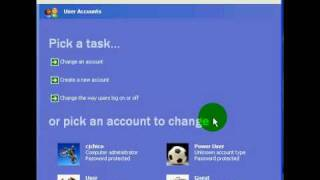 How to cahnge the way users log on and off in windows xp professional