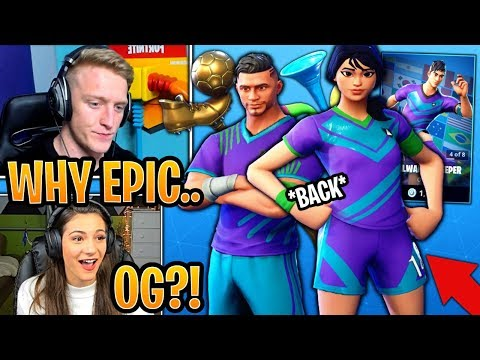 Streamers React to SWEATY Soccer Skins *BACK* in the Item Shop! - Fortnite Moments thumbnail