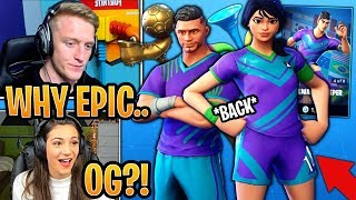 Streamers React to SWEATY Soccer Skins *BACK* in the Item Shop! - Fortnite Moments