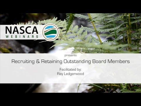NASCA Webinar - Recruiting & Retaining Outstanding Board Members