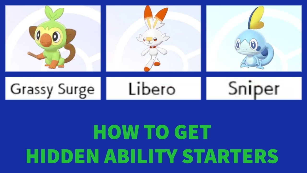 How To Get Hidden Ability Grookey Scorbunny And Sobble In Pokemon Sword And Shield Guide Youtube It's a nice little promo that will provide. how to get hidden ability grookey scorbunny and sobble in pokemon sword and shield guide