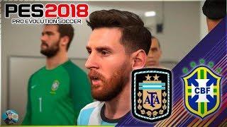 Pro Evolution Soccer 2018 Argentina vs Brasil - Allianz Parque - Relatos De Paoli