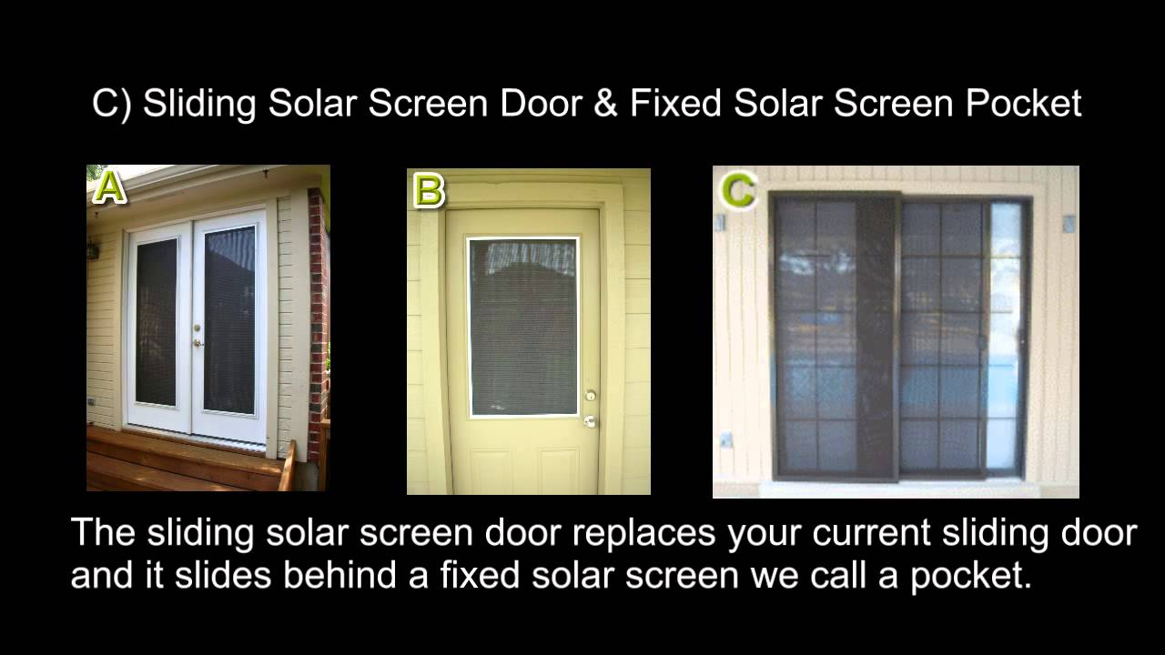 Can You Put Solar Screens On Doors ?