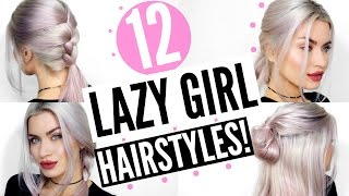12 LAZY GIRL HEATLESS HAIRSTYLYES! SIMPLE & EASY! | LYSSRYANN