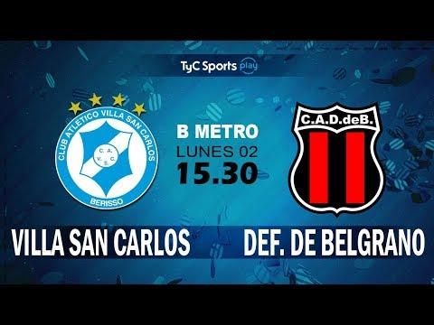 Primera B Metropolitana: Villa San Carlos vs. Defensores de Belgrano l #PrimeraBenTyC