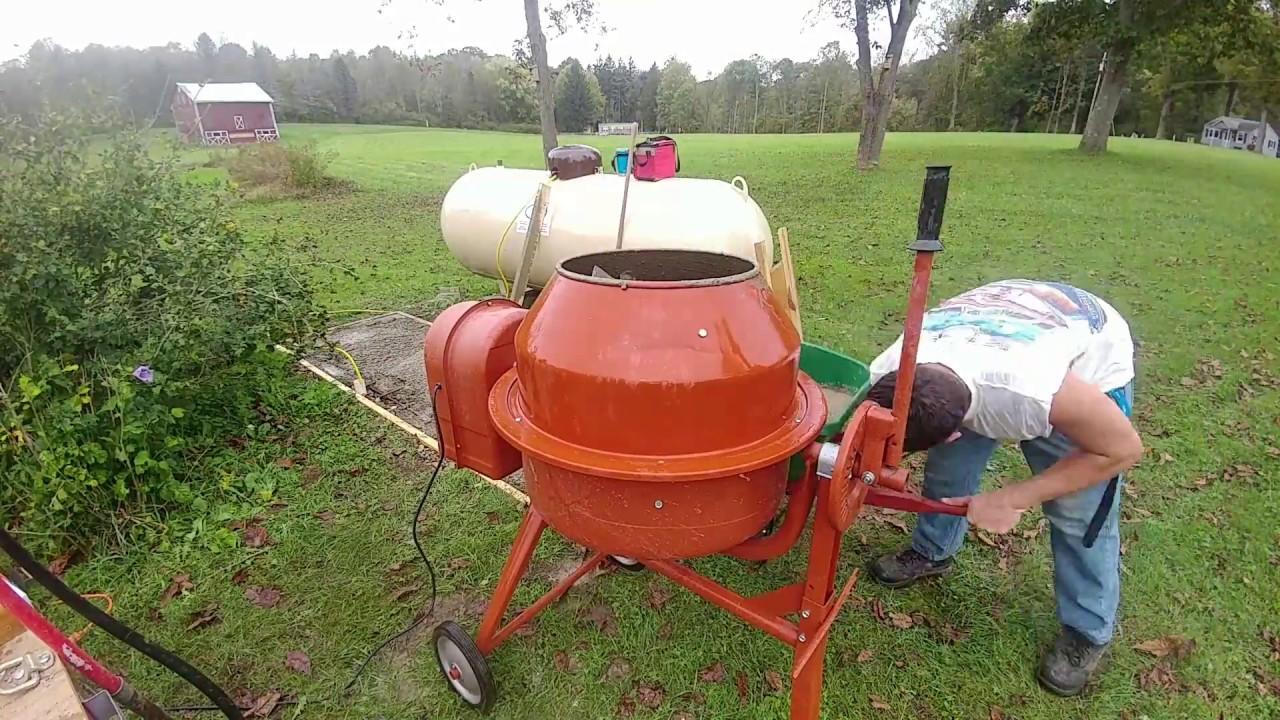 Digging & Pouring A Concrete Slab For A 500 Gallon Propane Tank