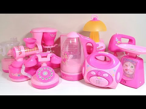 Mini Home Appliances Pink Kitchen Cooking Toys [NO MUSIC]