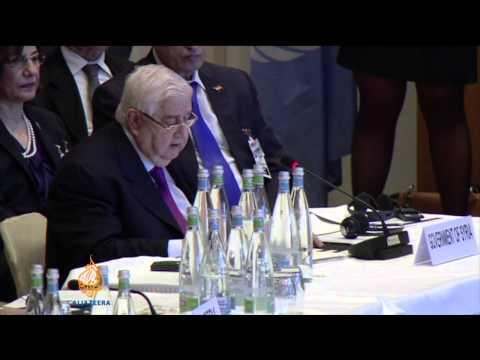Syria rivals exchange blame in Geneva talks