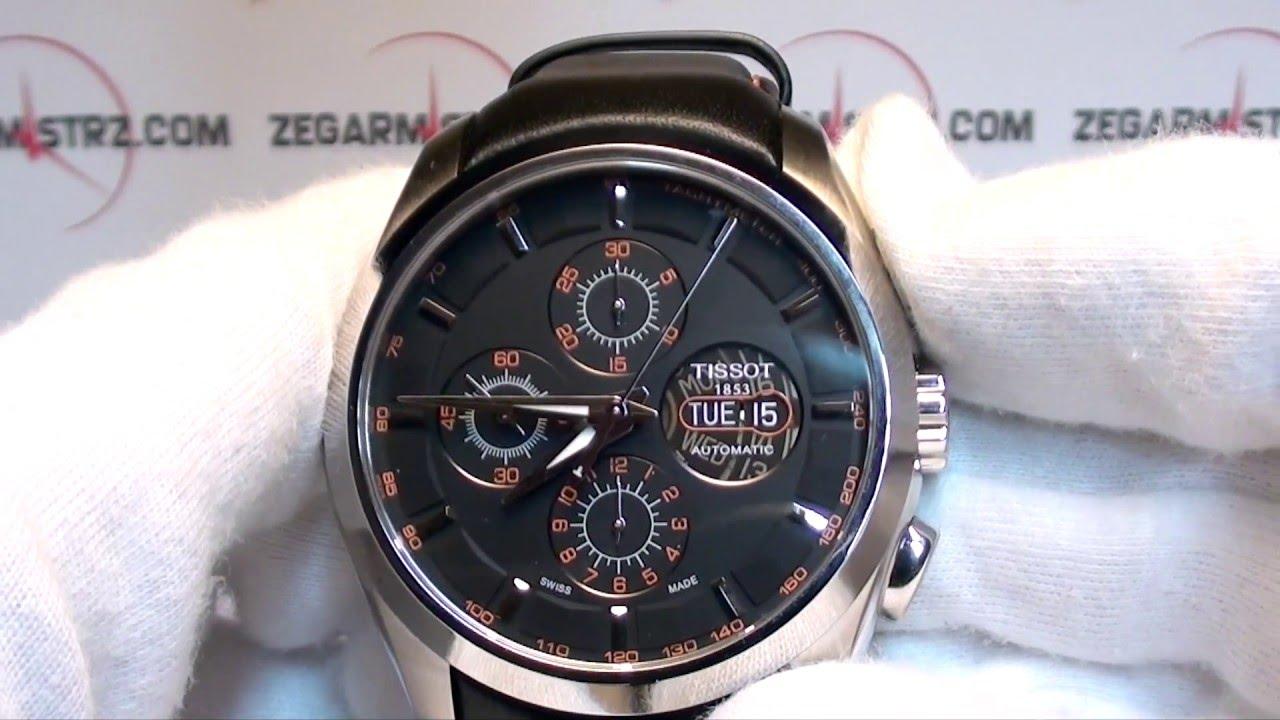 Tissot Couturier Automatic Chronograph Valjoux T035.614.16.051.01  www.zegarmistrz.com - YouTube 7d099af75854