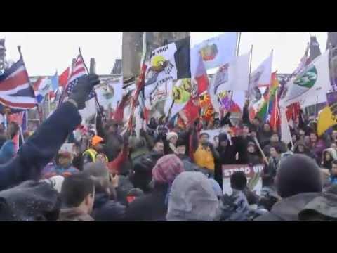 Idle No More Round Dance on the Hill, Ottawa Dec 21, 2012