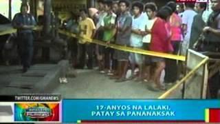 BP: 17-anyos na lalaki sa Davao, patay sa pananaksak