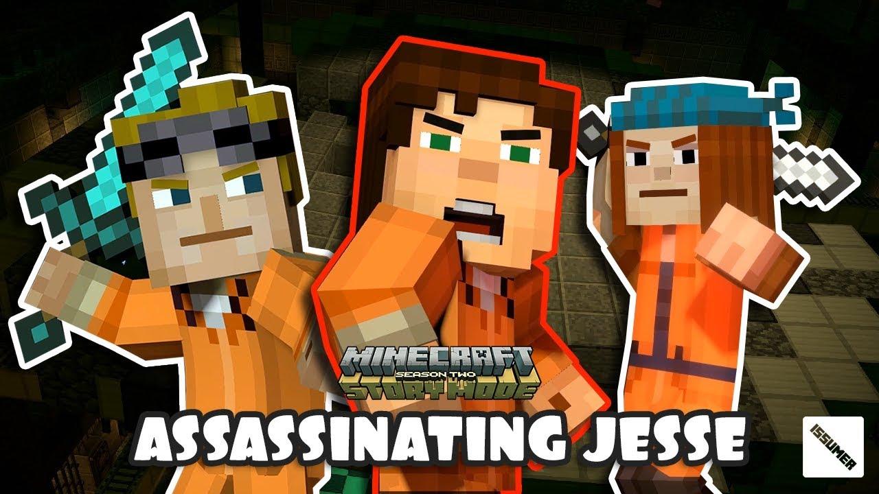 Lukas Petra Trying To Assassinate Jesse Minecraft Story Mode Season 2 Youtube