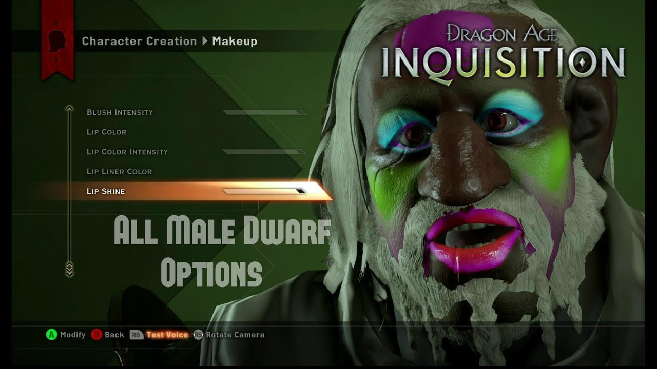 dragon age inquisition character creation male dwarf johnny big