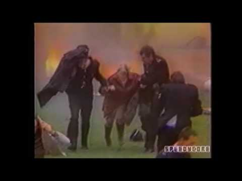 Fire disaster at football match (Bradford City stadium ...