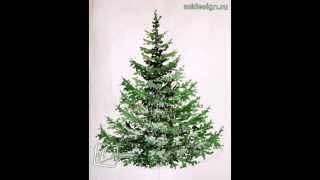 Как нарисовать елку красками.How to draw a tree paints(How to draw a tree paints Как нарисовать елку красками., 2014-12-13T20:48:01.000Z)