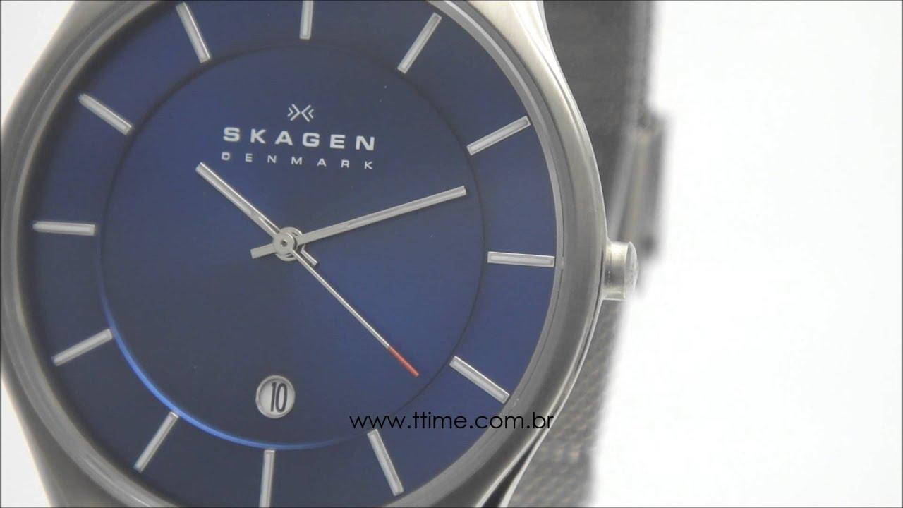 ecabe07a72e88 Relógio Skagen 956XLTTN D1GX - YouTube