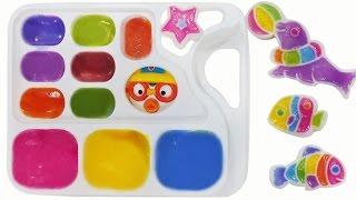 뽀로로 와 포핀쿠킨 가루쿡 오에카키 캔디랜드 로 사탕 만들기 장난감 놀이 Popin Cookin Konapun Cooking Toys Oekaki Candy Land pororo