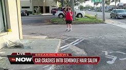 Car crashes into hair salon in Seminole