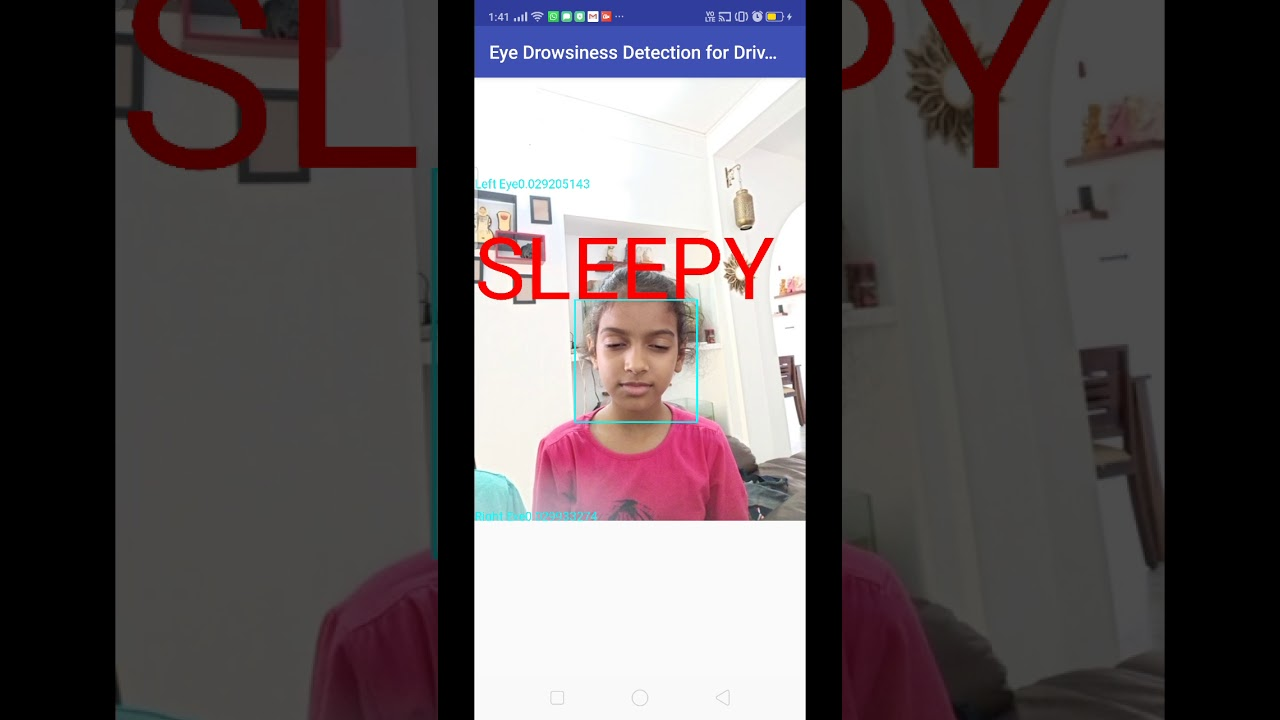 Drowsiness Detection for Drivers Android App - YouTube