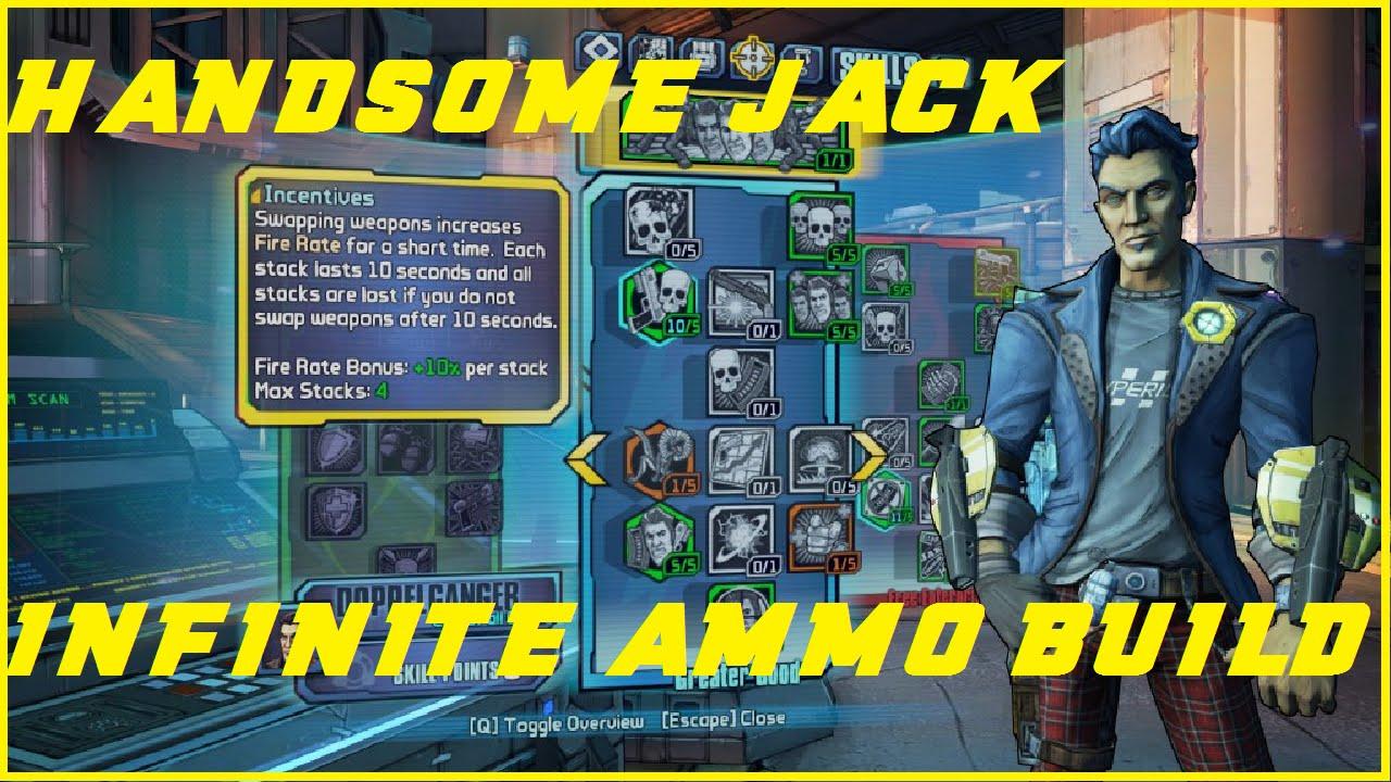 Borderlands: The Pre-Sequel: Best Handsome Jack Infinite Ammo Build!