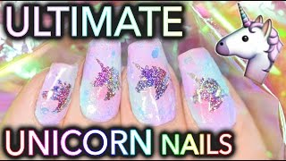 The Ultimate UNICORN nails! (Unicorn window to your soul)