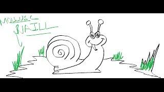 draw easy drawing snail cartoon mollusc