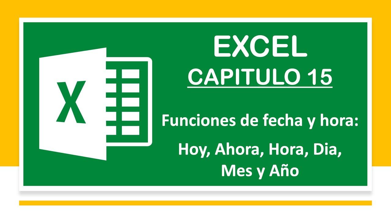 Función de Fecha y Hora en Excel 2013 - YouTube