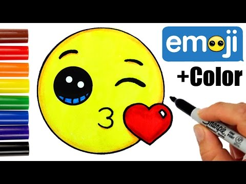 how-to-draw-+-color-kissing-emoji-step-by-step--super-easy-cute