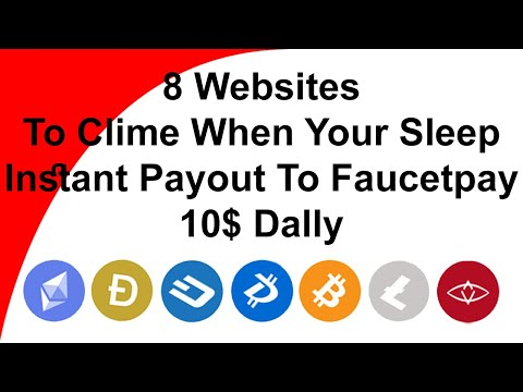 8 FaucetPay Automatic Earning When Your Sleep / Instant Pay Out To Faucetpay Account